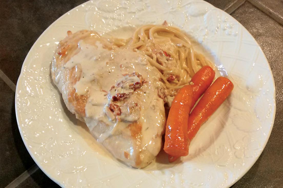 Chicken with Sun-Dried Tomato & Cream Sauce