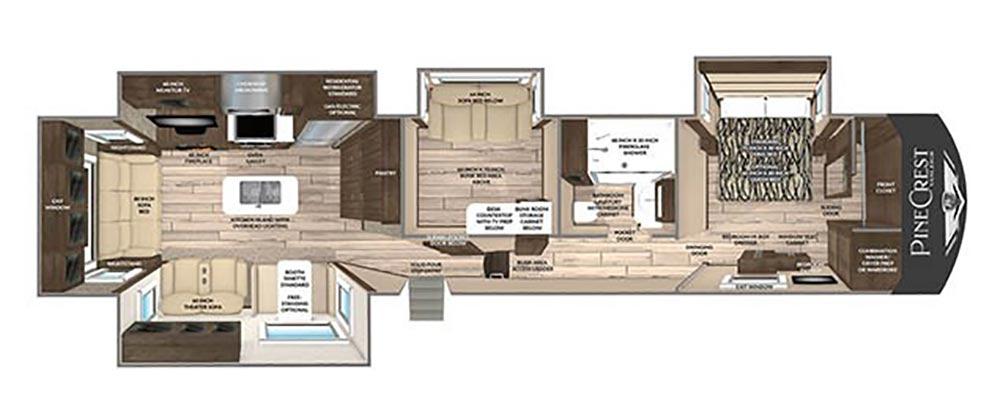 Pinecrest fifth wheel floor plan