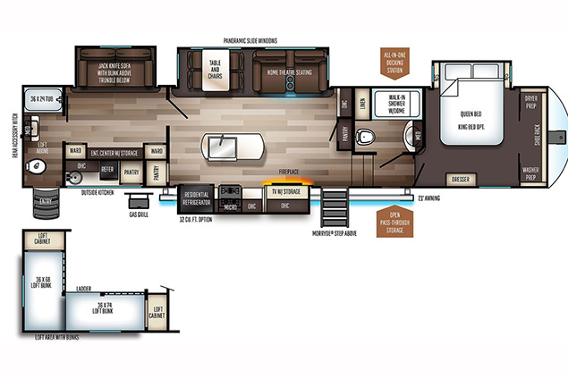 2021 FOREST RIVER SABRE 38.5DBQ FLOORPLAN