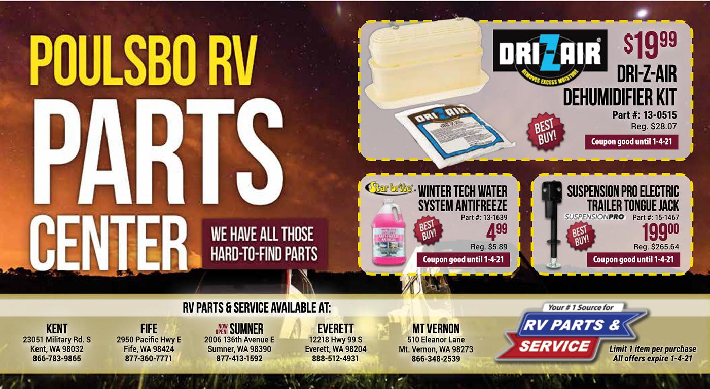 RV Parts Specials Ends 1-4-20