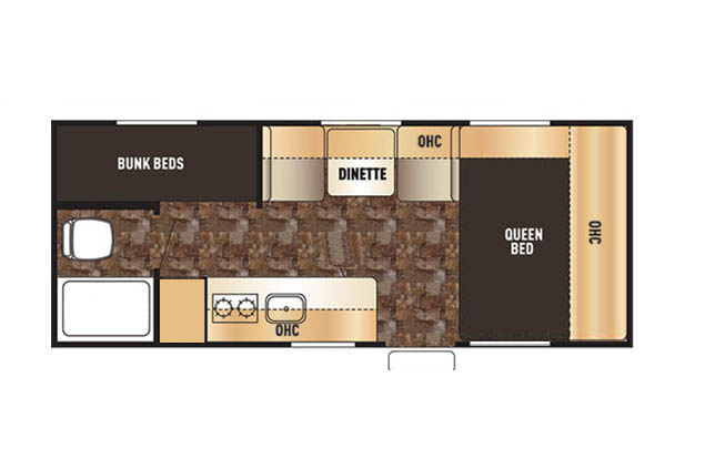 CASCADE TRAVEL TRAILER FLOOR PLAN